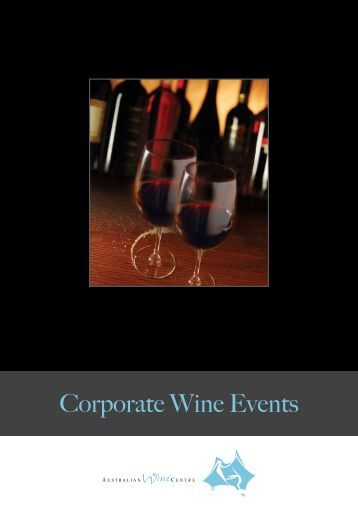 Corporate Wine Events - Crown Wine Cellars