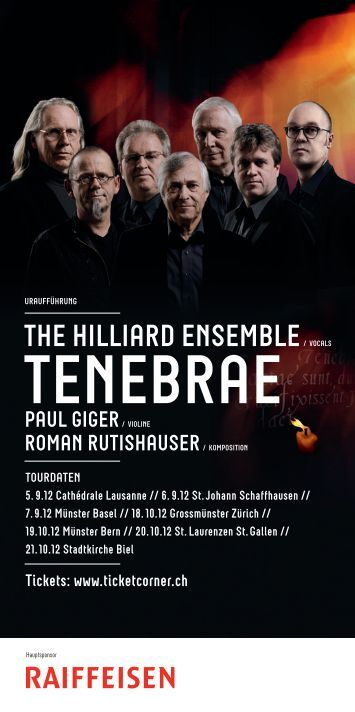 Flyer Tenebrae - Rutishauser, Roman