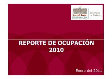 Reporte Ocupación Anual 2010 A - Secretaría de Turismo