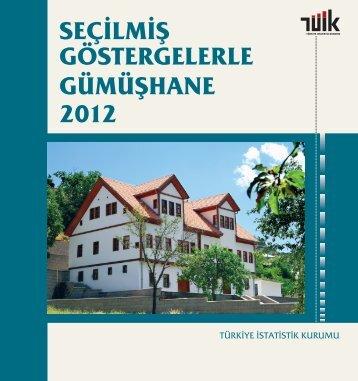GÜMÜŞHANE - Türkiye İstatistik Kurumu
