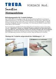 Montageanleitung Befestigungspunkte für Vordach festlegen