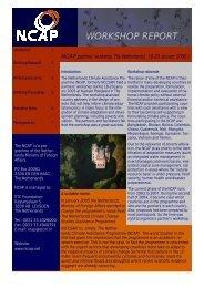 workshop report - NCAP