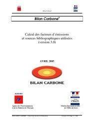 Bilan Carbone Calcul des facteurs d'émissions et sources ...