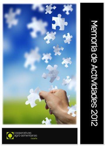memoria de actividades 2012 - Cooperativas Agro-alimentarias