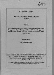 LAPORAN AKHIR PROGRAM RISET INSENTIF 2010 - KM Ristek