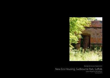 New Eco Housing, Sudbourne Park, Suffolk