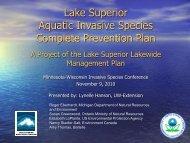 Lake Superior Aquatic Invasive Species Complete Prevention Plan