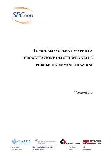 Modello operativo per la progettazione dei siti web ... - Archivio CNIPA