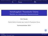 Vertiefungsfach Theoretische Chemie - Friedrich-Schiller-Universität ...