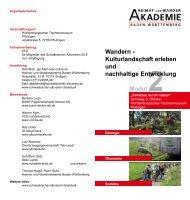 Kulturlandschaft erleben und nachhaltige ... - BUND Neckar-Alb