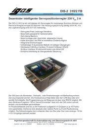 DIS-2 310/2 FB Dezentraler intelligenter ... - IGAS