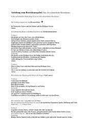 Anleitung zum Rosenkranzgebet (hier: der schmerzhafte Rosenkranz)