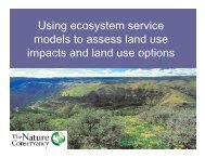 Using Ecosystem Service Models to Assess Land Use Impacts and ...