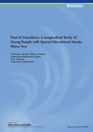 Post-16 Transitions: a Longitudinal Study of Young People with ...