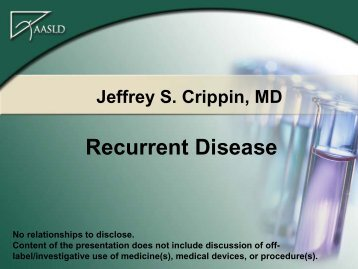Recurrent Disease - AASLD