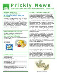 August 2012 - South Coast Cactus & Succulent Society