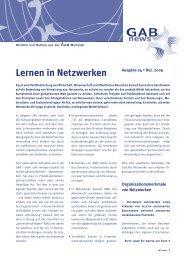 Lernen in Netzwerken - GAB München