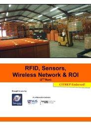 RFID, Sensors, Wireless Network & ROI (2 - The Logistics Institute