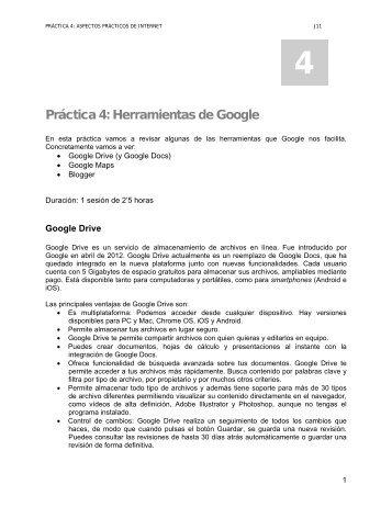 Práctica 4: Herramientas de Google