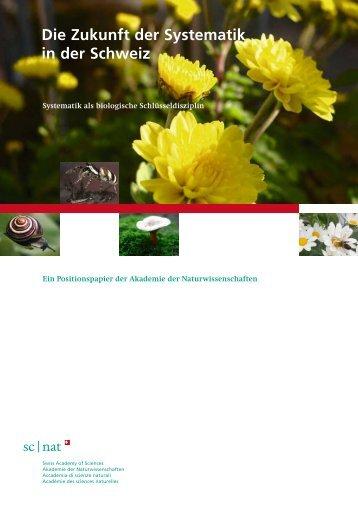 Die Zukunft der Systematik in der Schweiz - SCNAT