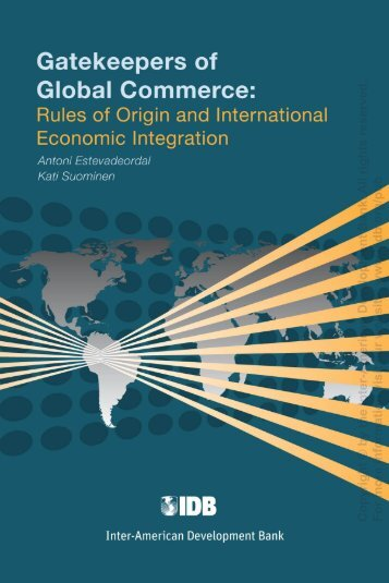 Gatekeepers of Global Commerce, IDB, 2008 - International Labour ...