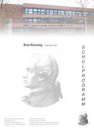 S C H U L P R O G R A M M - Immanuel-Kant-Gymnasium