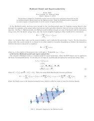 Hubbard Model and Superconductivity - KIAS