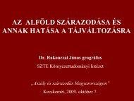 Az Alföld szárazodása és annak hatása a tájváltozásra Rakonczai ...