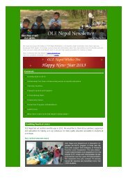 Download the Newsletter - OLE Nepal