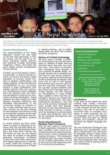 Download June-July 2010 Newsletter - OLE Nepal