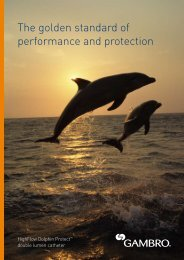 The golden standard of  performance and protection - Gambro