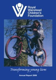 Annual Report 2009 - the Royal National Children's Foundation.