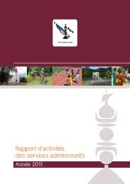 rapport activite 2011 pn - Province Nord