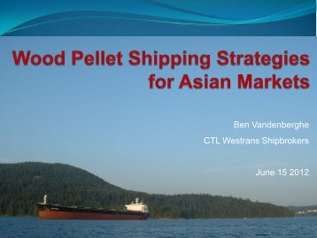 Wood Pellet Shipping Strategies for Asian Markets