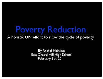 Poverty Reduction. - United Nations Association - West Triangle ...