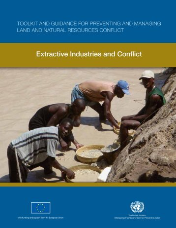 Extractive Industries and Conflict