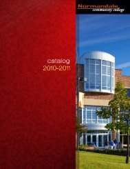 Printed Catalog - Normandale Community College