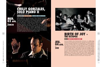 CHILLY GONZALES, SOLO PIANO II BIRtH Of JOY +