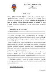 ASSEMBLEIA MUNICIPAL DE ALCOBAÇA - Município de Alcobaça