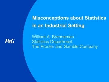 Misconceptions about Statistics in an Industrial Setting - Statistical ...