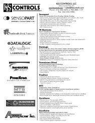 2010 Product Line Card - KLS Controls LLC