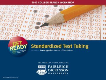 Standardized Tests - Fairleigh Dickinson University
