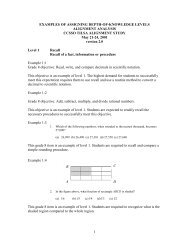 examples of assigning depth-of-knowledge levels - University of ...