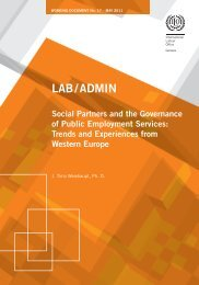 Social Partners and the Governance of Public Employment Services