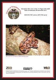 November 2011 - Journal of Threatened Taxa
