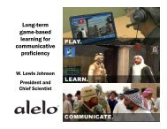 Long term Long-term game-based learning for communicative ...