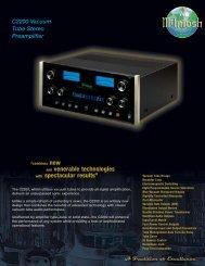 C2200 Vacuum Tube Stereo Preamplifier