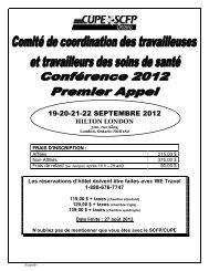 19-20-21-22 SEPTEMBRE 2012 - CUPE Ontario