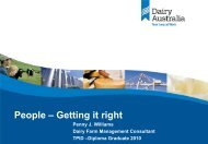 Presentation from Penny Williams - DairyTas
