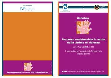 Programma del Workshop - Agenzia di Sanità Pubblica della ...